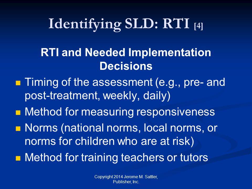Identifying SLD: RTI [4]